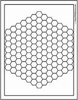 Coloring Pattern Hex Bee Hive Pdf Adults Detailed Printables Colorwithfuzzy sketch template