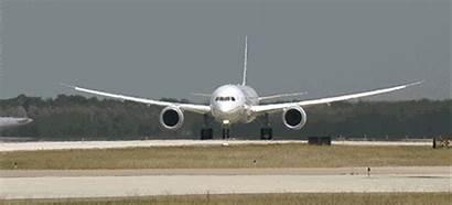 Taking Plane Boeing Airplane Take Airport Into