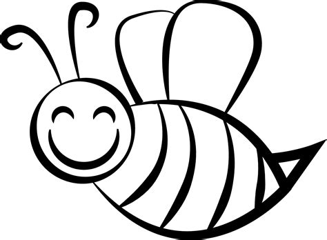 bee coloring page wecoloringpagecom