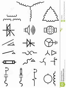 Electrical Power Symbols Stock Images - Image: 12185534
