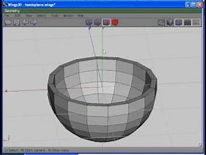 Wings 3D Basic Tutorial: Create a Hollow Hemisphere - YouTube