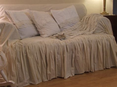 shabby chic slip covers shabby chic couch slipcover throw by mythymecreations on etsy