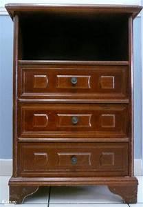 Petit Meuble à Tiroirs : petit meuble 3 tiroirs bois exotique ~ Teatrodelosmanantiales.com Idées de Décoration