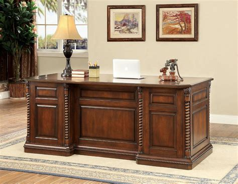 hardwood executive desk