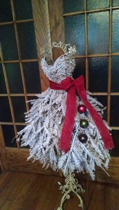 fashion inspired christmas trees   dress forms