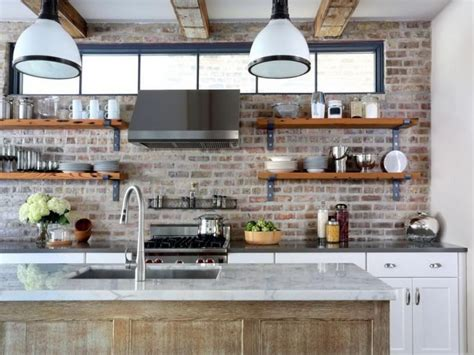 sparkling kitchens  open shelving
