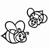 Bee Coloring Bumblebee Pages Bumble Cute Smiling Farm Print Transformers Drawing Honey Colouring Printable Coloring4free Tocolor Flower Queen Looking Preschool sketch template