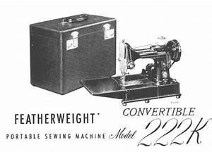 Singer Sewing Machine 222k 222 Instruction Owners User
