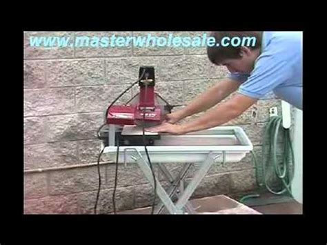 mk 370 tile saw demonstration video youtube