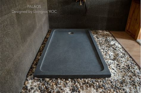 1200x800 Shower Tray Grey Granite Stone Wet Room PALAOS
