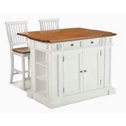 stationary kitchen islands with seating jet home styles large kitchen island set with 2 stationary stools antique white oak