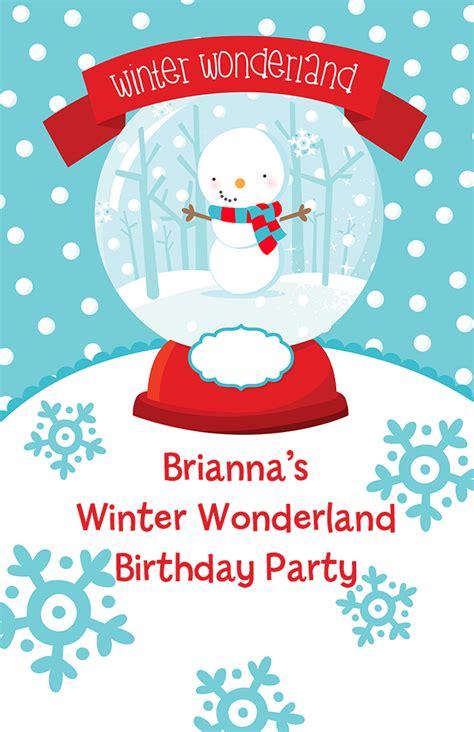 snow globe winter wonderland birthday party wall art