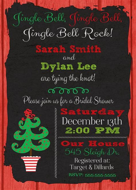christmas bridal shower invitation christmas wedding