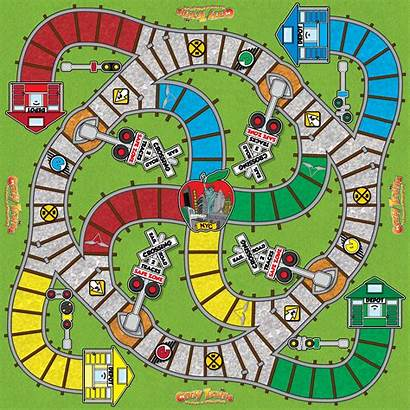 Board Games Crazy Trains Gameboard Hobbies Traditional
