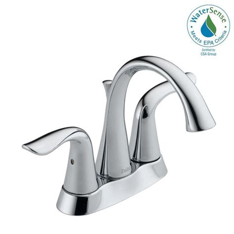 delta lahara 4 in centerset 2 handle bathroom faucet with metal drain assembly in chrome 2538
