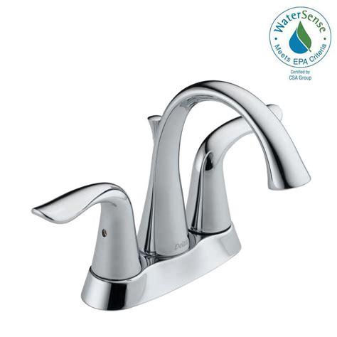 delta lahara 4 in centerset 2 handle bathroom faucet with