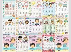 Llamativo y colorido calendario del 2018 Educación Primaria