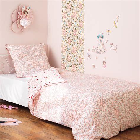 housse de couette r 233 versible coton fleurs passepoil 140x200cm fleur big room