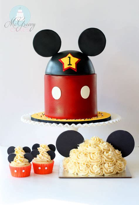 mickey mouse st birthday  smash cake mcgreevy cakes