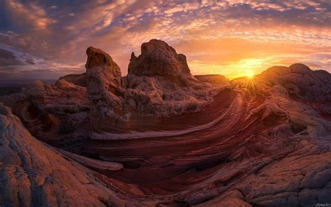 mountains, Sunset, Desert Wallpapers HD / Desktop and ...