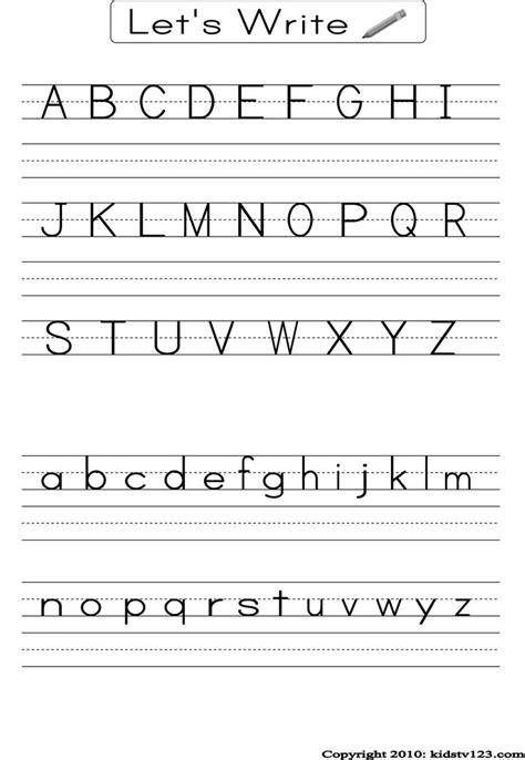 printable alphabet worksheets preschool writing