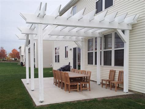 concrete patio with pergola best pergola ideas garden