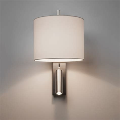 astro 1222019 ravello modern nickel wall light with led