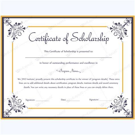 scholarship awards certificates templates