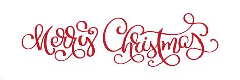 lettering merry christmas vector text calligraphic lettering template creative typography