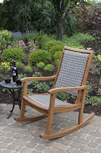 outdoor interiors resin wicker and eucalyptus rocking