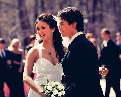 wedding  damon salvatore  elena gilbert   vampire