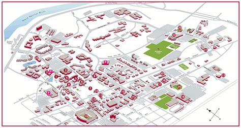 Uab Parking Deck Map by Cus Map Stops Of Alabama Visitor
