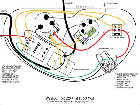 washburn xb125 wiring mod 1 talkbass com