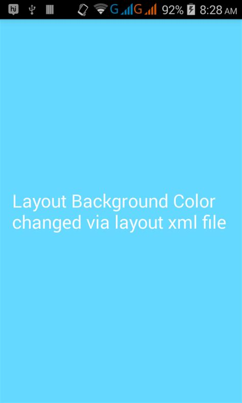 Set complete layout background color in android xml