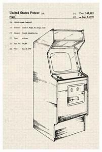 Arcade Video Game Cabinet Atari Official Patent Diagram