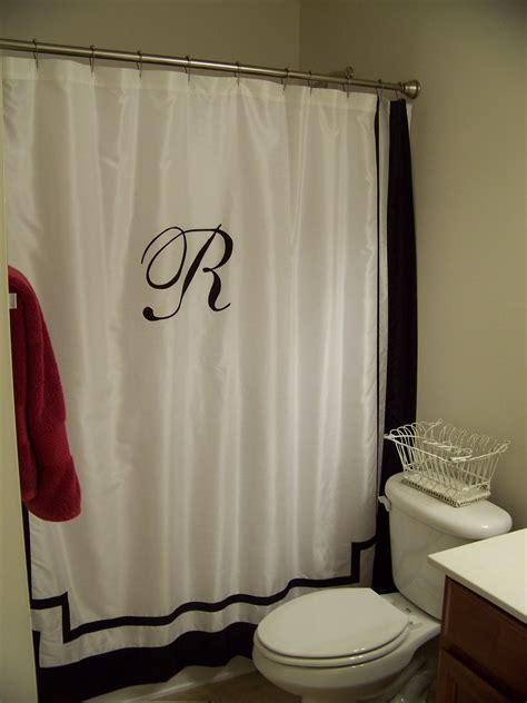 monogrammed shower curtain lissalaneous thoughts monogrammed shower curtain
