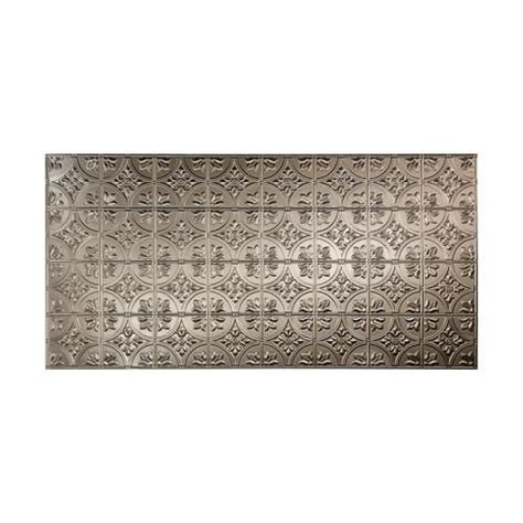Penny round ceramic mosaic tile for kitchen and bathroom wall and floor tiles we are uaro tile ltd. FASADE Traditional 2 - 4' x 8' PVC Wall Panel - Menards - Brushed Nickel | Pvc wall panels, Wall ...
