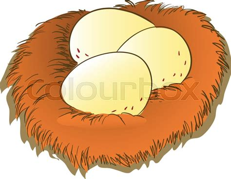 Colorful Of Egg In Brown Nest Clipart, ...