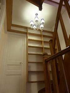 Bibliothèque Faible Profondeur : biblioth que d 39 escalier i faible profondeur atelier de sarah ~ Edinachiropracticcenter.com Idées de Décoration