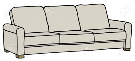 Pencil And In Color Sofa Clipart Canape
