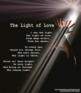 love and light quotes the light of love faith hope and light