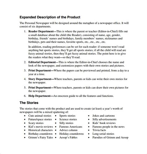 sample product proposal template   documents