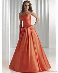 orange simple robe de soiree longue a ligne With robe de soirée orange