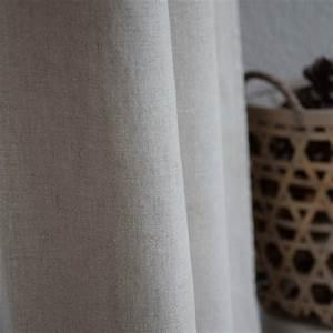 Rideaux En Lin Lavé : rideau lin lav pais naturel maison d 39 t ~ Teatrodelosmanantiales.com Idées de Décoration
