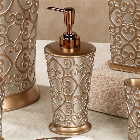 gold bathroom decor silver and gold bath accessories