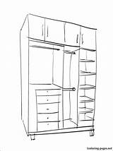 Pages Closet Coloring 1coloring Furniture Larger Credit sketch template