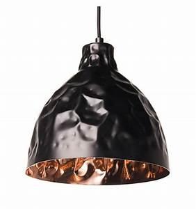 Suspension Noir Et Cuivre : suspension industrielle design noire talia kosilum ~ Melissatoandfro.com Idées de Décoration