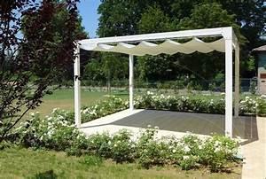 toile bache pergola voile ombrage store banne With rideau pour pergola exterieur 15 brise vue retractable sur mesure