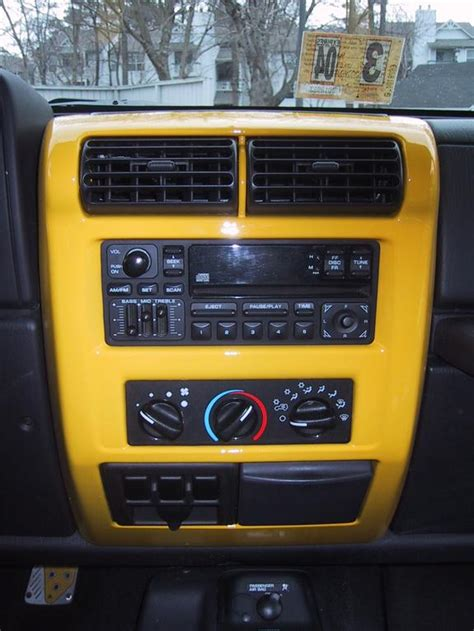 yellow jeep interior thejack sti 2002 jeep tj specs photos modification info