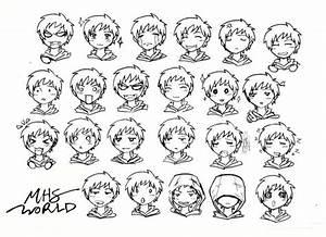 Anime, Chibi Face Expressions, Boy | Chibi!!! | Pinterest ...